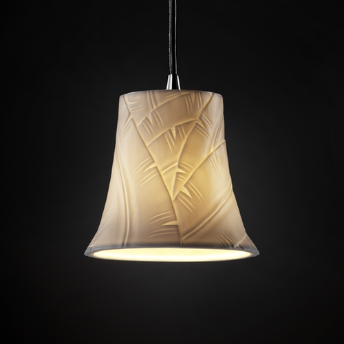 Justice Design Group Justice Design Group Limoges Collection Mini-Pendant Light POR-8815-20-BANL-CROM
