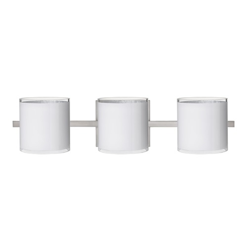 Besa Lighting Besa Lighting Pogo Satin Nickel Bathroom Light 3WS-7180SF-SN