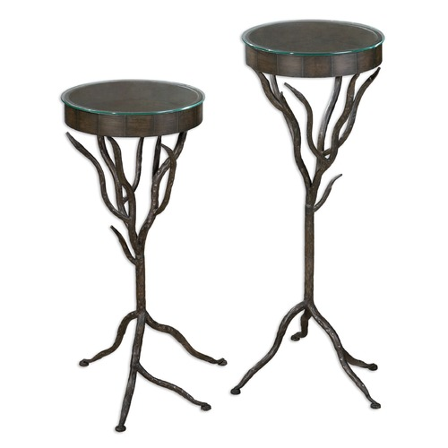 Uttermost Lighting Uttermost Esher Plant Stands Set of 2 24316