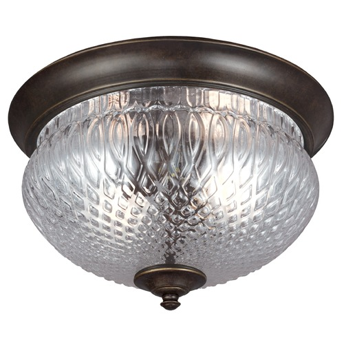 Sea Gull Lighting Sea Gull Lighting Garfield Park Burled Iron Close To Ceiling Light 7826402-780