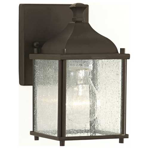 Home Solutions by Feiss Lighting Outdoor Wall Light with Clear Glass in Oil Rubbed Bronze Finish OL4000ORB