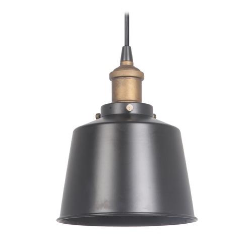 Mid-Century Modern Mini-Pendant Light Black / Brass By