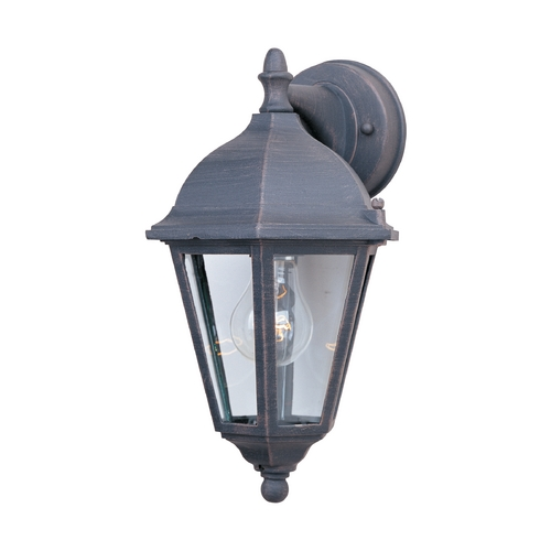 Maxim Lighting Outdoor Wall Light with Clear Glass in Rust Patina Finish 1000RP