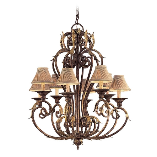 Metropolitan Lighting Chandelier in Golden Bronze Finish - Shades Not Included N6238-355