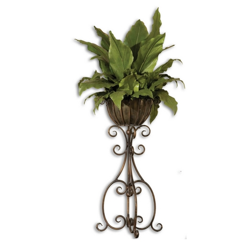Uttermost Lighting Potted Artificial Decorative Plant with Wrought Iron Base 60090