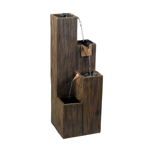 Kenroy Home Lighting Fountain in Wood Grain Finish 50007WDG