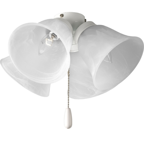 Progress Lighting Progress Light Kit with Alabaster Glass in White Finish P2643-30
