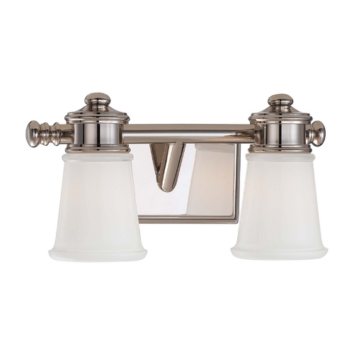 Minka Lighting Bathroom Light with Clear Glass in Polished Nickel Finish 4532-613