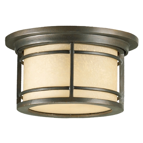 Quorum Lighting Quorum Lighting Larson Oiled Bronze Close To Ceiling Light 3916-11-86