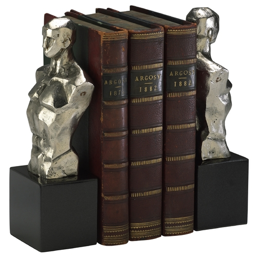 Cyan Design Cyan Design Hercules Chrome with Black Granite Base Bookend 1895