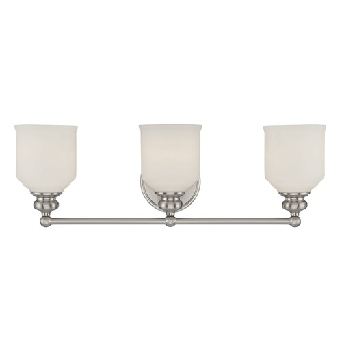 Savoy House Savoy House Lighting Melrose Satin Nickel Bathroom Light 8-6836-3-SN