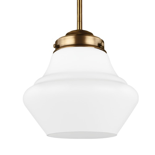 Feiss Lighting Feiss Alcott Aged Brass Mini-Pendant Light P1404AGB