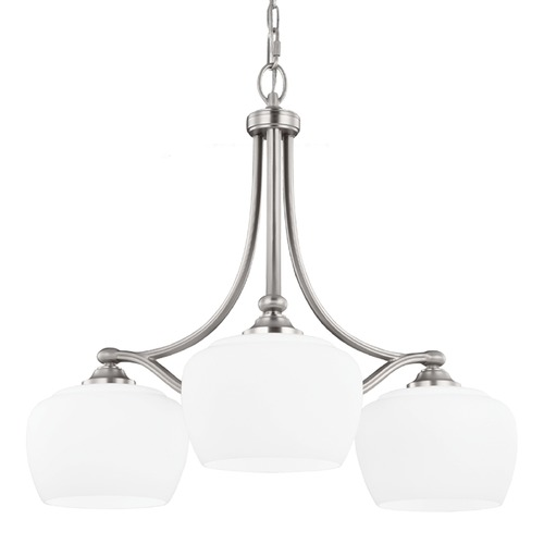 Feiss Lighting Feiss Lighting Vintner Satin Nickel Chandelier F2964/3SN