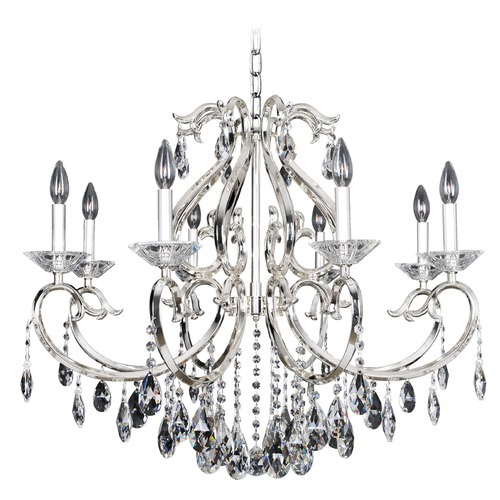 Allegri Lighting Cesti 8 Light Crystal Chandelier w/ Black Pearl 023752-007-FR001