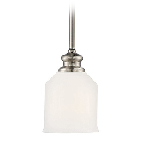 Savoy House Savoy House Lighting Melrose Satin Nickel Mini-Pendant Light with Bowl / Dome Shade 7-6834-1-SN