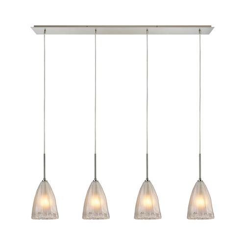 Elk Lighting Elk Lighting Calipsa Satin Nickel Multi-Light Pendant with Bowl / Dome Shade 10449/4LP