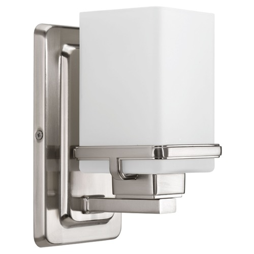 Progress Lighting Progress Lighting Metric Brushed Nickel Sconce P2193-09