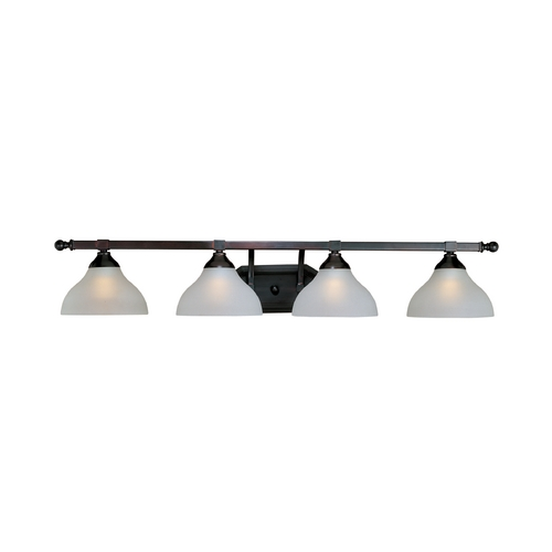 Maxim Lighting Bathroom Light with White Glass in Oil Rubbed Bronze Finish 21274FTOI