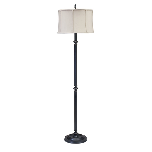 House of Troy Lighting Floor Lamp with White Shade in Oil Rubbed Bronze Finish CH800-OB