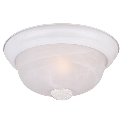 Designers Fountain Lighting Flushmount Light with Alabaster Glass in White Finish 1257L-WH-AL