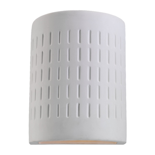 Sea Gull Lighting Modern Outdoor Wall Light with White Porcelain Shade in Unfinished Ceramic Finish 83046-714