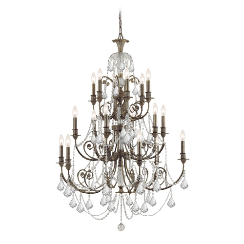 Crystorama Lighting Crystal Chandelier in English Bronze Finish 5117-EB-CL-MWP