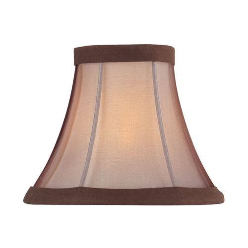 Lite Source Lighting Linen Bell Lamp Shade with Clip-On Assembly CH5222-6