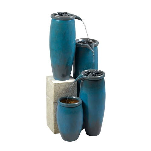 Kenroy Home Lighting Fountain in Blue Glaze Finish 50008BG