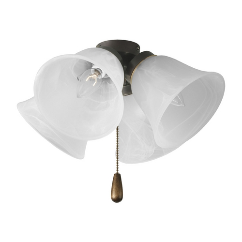 Progress Lighting Progress Light Kit with Alabaster Glass in Antique Bronze Finish P2643-20