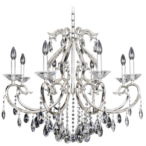 Allegri Lighting Cesti 8 Light Crystal Chandelier w/ Silver 023752-014-FR001