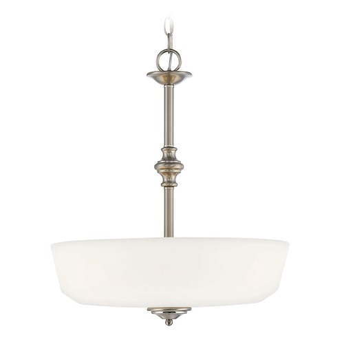 Savoy House Savoy House Lighting Melrose Satin Nickel Pendant Light with Bowl / Dome Shade 7-6839-3-SN