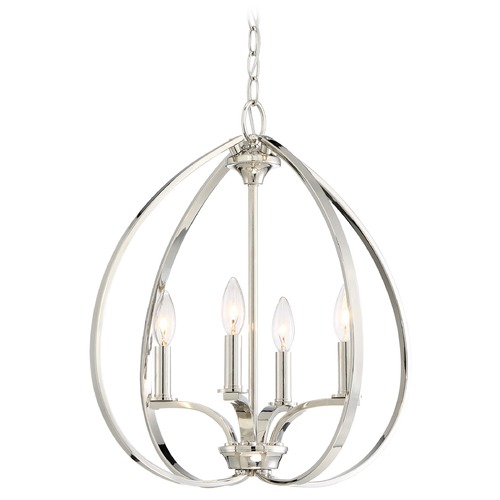 Minka Lavery Minka Tilbury Polished Nickel Pendant Light 4984-613