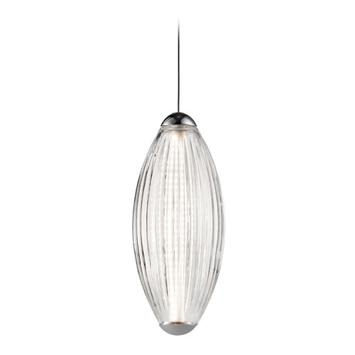 Elan Lighting Elan Lighting Savello Chrome LED Mini-Pendant Light with Oblong Shade 83606