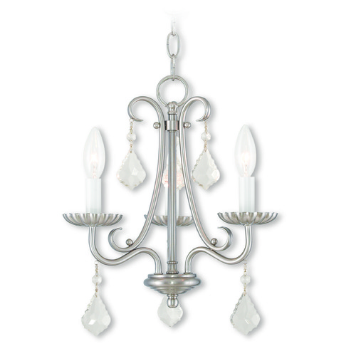 Livex Lighting Livex Lighting Daphne Brushed Nickel Mini-Chandelier 40873-91