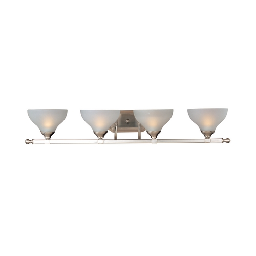 Maxim Lighting Bathroom Light with White Glass in Satin Nickel Finish 21274FTSN