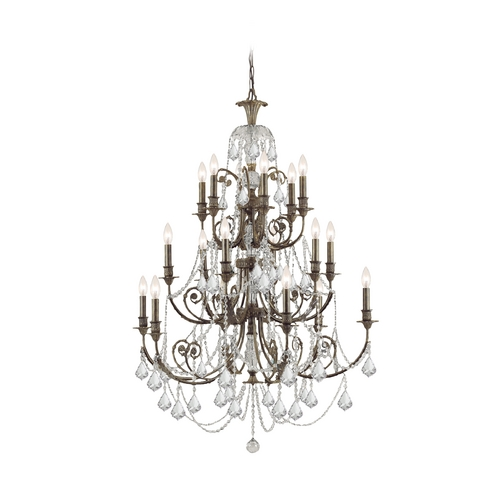 Crystorama Lighting Crystal Chandelier in English Bronze Finish 5117-EB-CL-S