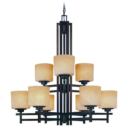 Dolan Designs Lighting Two-Tier Nine-Light Chandelier 2812-133