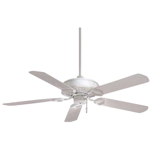 Minka Aire Indoor/Outdoor Ceiling Fan with Five Blades F589-WH