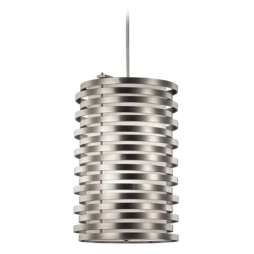 Kichler Lighting Kichler Modern Pendant Light with White Glass in Olde Bronze Finish 43306OZ