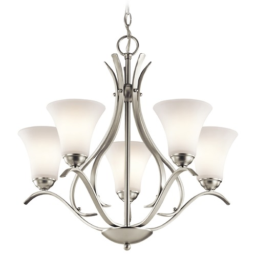 Kichler Lighting Kichler Lighting Keiran Brushed Nickel Chandelier 43504NI