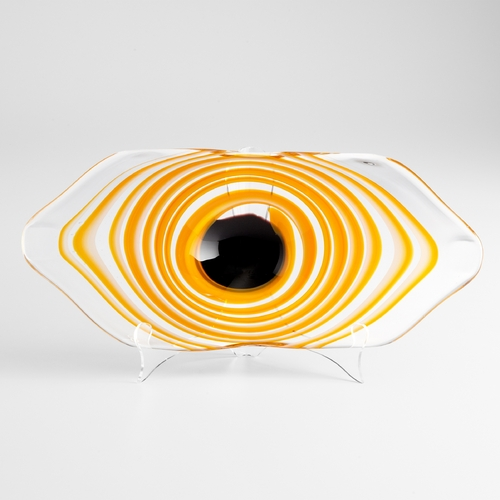 Cyan Design Cyan Design Cinzia Orange White & Clear Bowl 05669