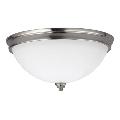 Sea Gull Lighting Sea Gull Lighting Parkfield Brushed Nickel Flushmount Light 75520-962