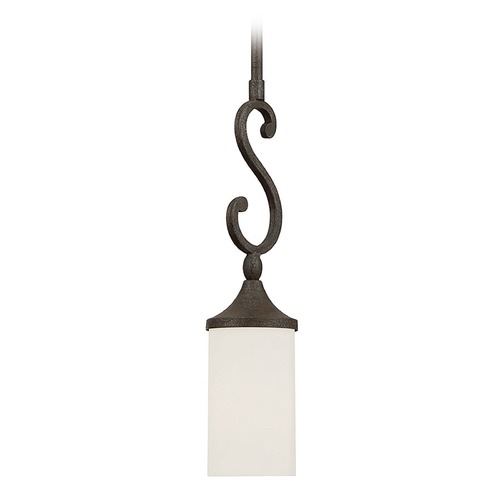 Savoy House Savoy House Lighting Strathmore Century Bronze Mini-Pendant Light with Cylindrical Shade 7-745-1-09