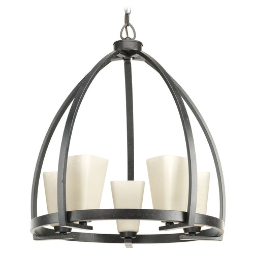 Progress Lighting Progress Lighting Ridge Espresso Pendant Light with Square Shade P4658-84