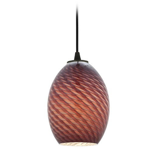 Access Lighting Access Lighting Brandy Firebird Oil Rubbed Bronze LED Mini-Pendant Light with Oblong Shade 28023-4C-ORB/PLMFB