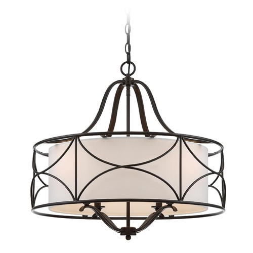 Designers Fountain Lighting Designers Fountain Avara Oil Rubbed Bronze Pendant Light with Drum Shade 88684-ORB