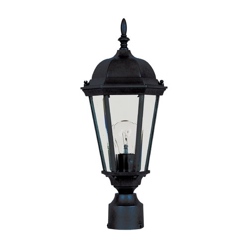 Maxim Lighting Post Light with Clear Glass in Black Finish 1001BK