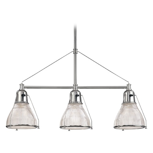 Hudson Valley Lighting Modern Island Light with Clear Glass in Old Bronze Finish 7313-OB