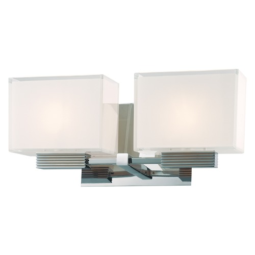 George Kovacs Lighting Two-Light Polished Chrome Vanity Light P5212-077