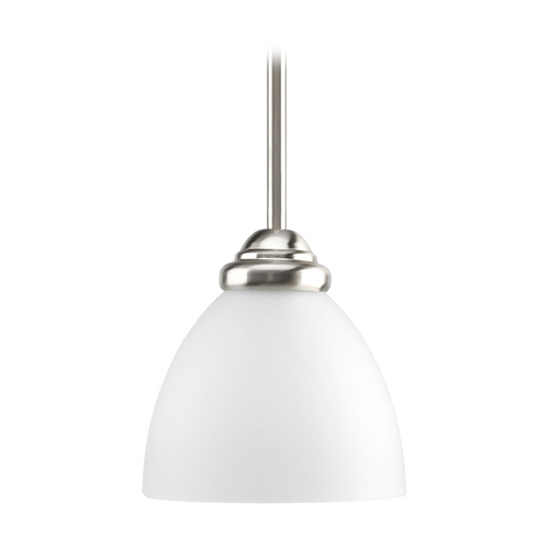 Progress Lighting Progress Mini-Pendant Light with White Glass P5131-09